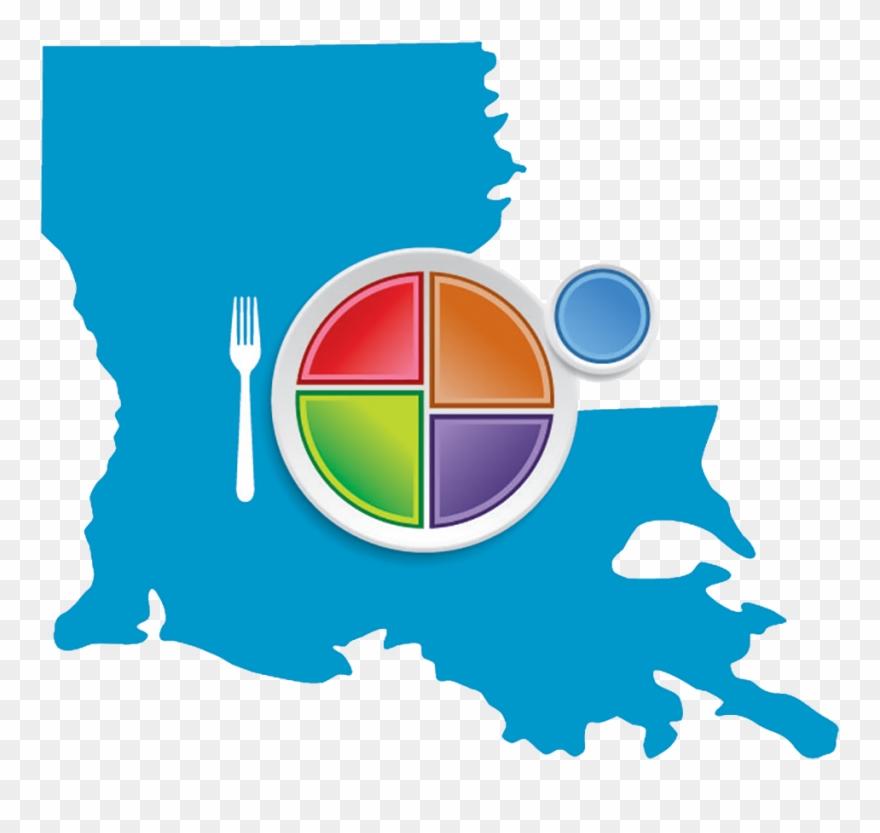 Choose Myplate Louisiana Logo.