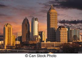 Stock Photography of Atlanta Sunrise.