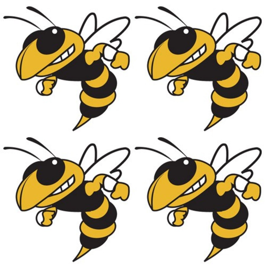Georgia Tech Yellow Jackets Team Logo Temporary Tattoos.