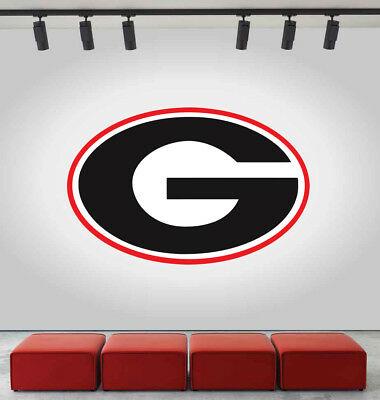 Bulldogs Wall Decal Georgia University Logo NCAA Vinyl Color Sticker CG623.