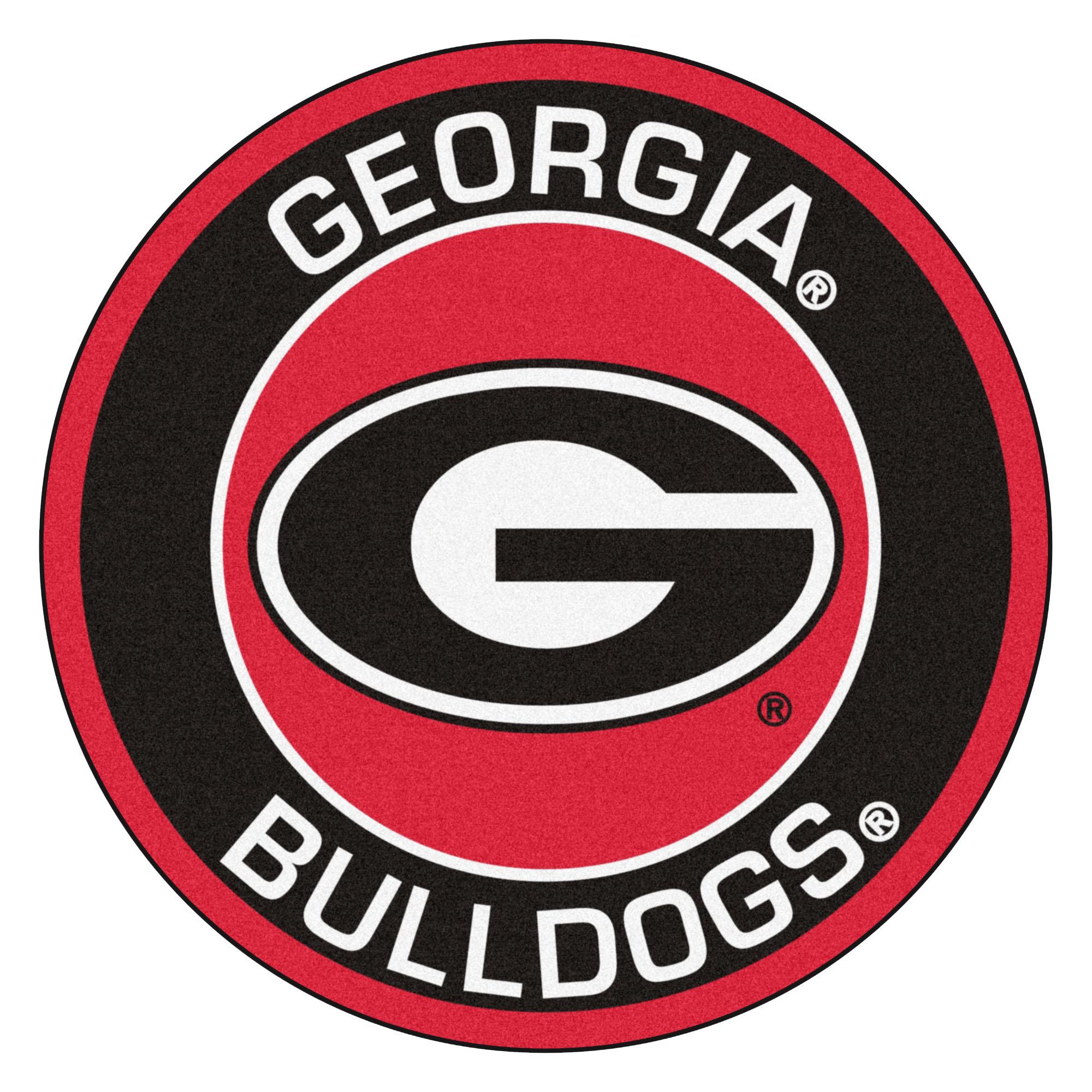 University of Georgia Bulldogs Logo Roundel Mat.