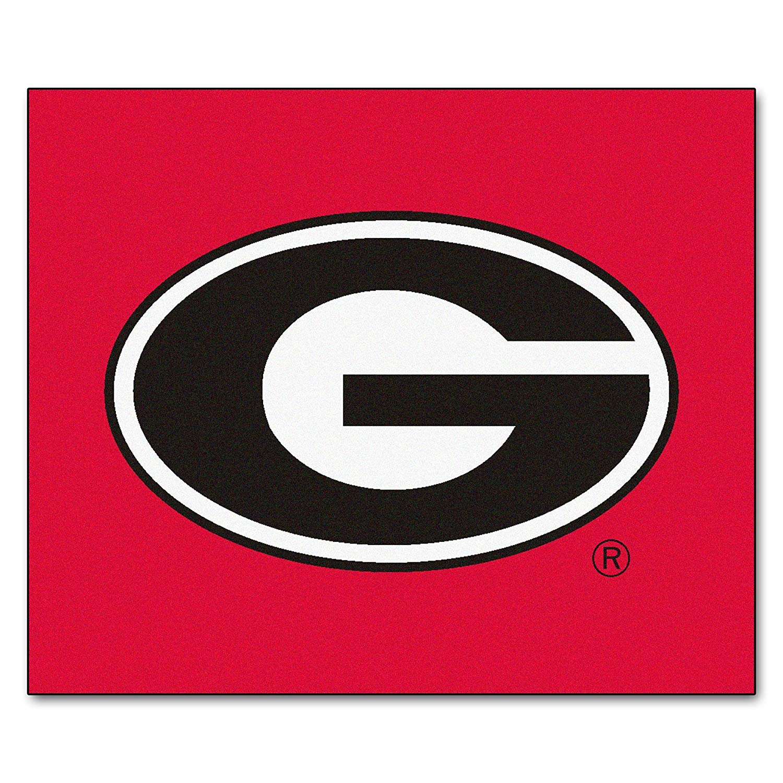 University of Georgia Red Logo Area Rug.