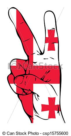 Vector Clipart of Peace Sign of the Georgian flag csp15755600.