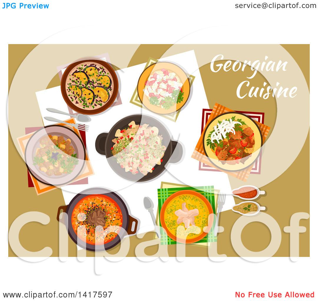 Georgian cuisine clipart #17