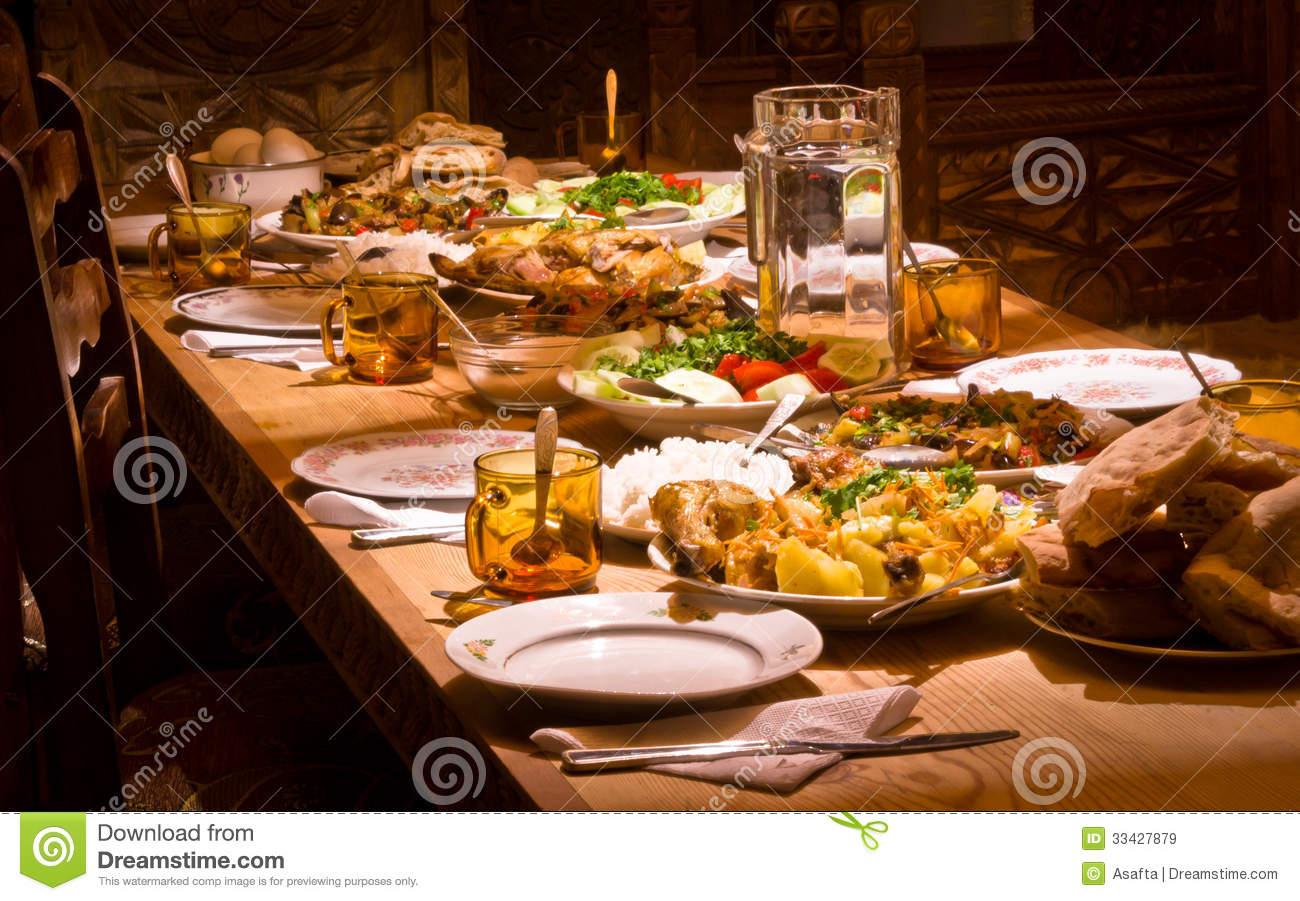 Georgian Food Stock Photo.