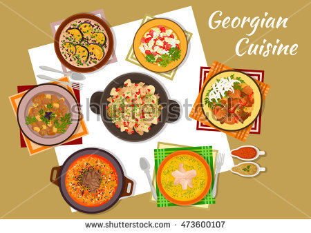 Vector Images, Illustrations and Cliparts: Georgian cuisine icon.
