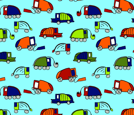 LaraGeorgine_Garbage_Trucks fabric.