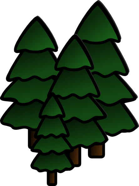 redwood forest clipart #19