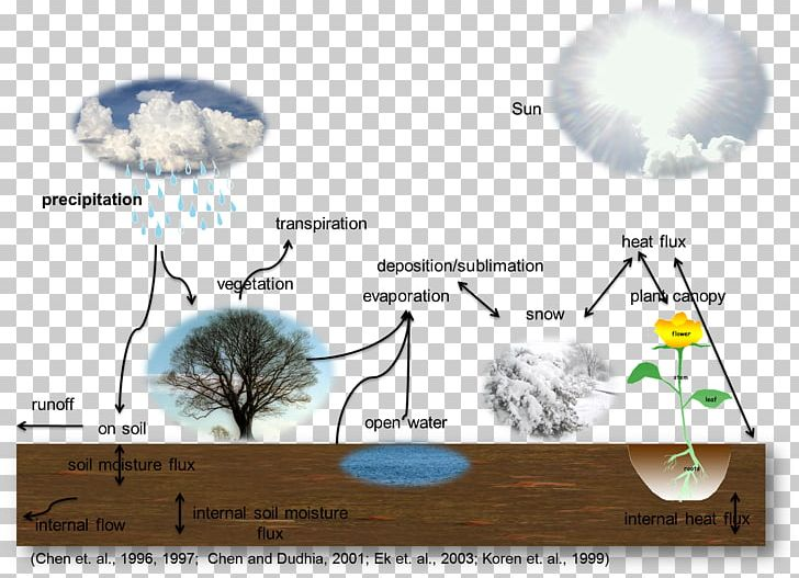 Water Cycle Evapotranspiration Soil Geosphere Plant PNG.