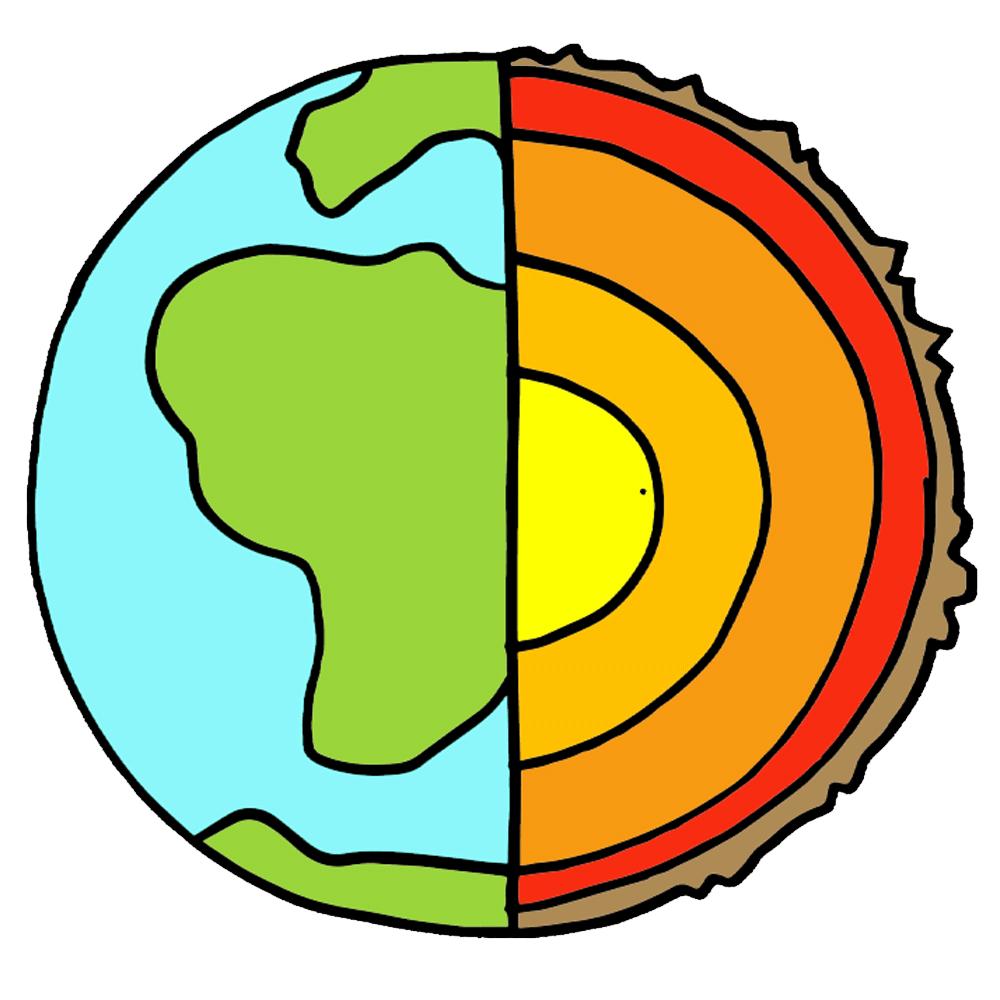 Earth\'s Interior Clipart.