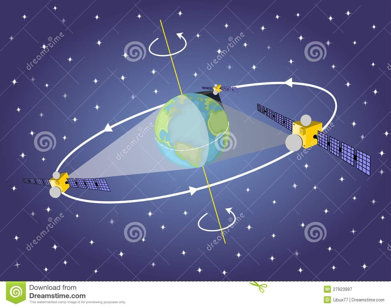 Geostationary Satellite Royalty Free Stock Photography.