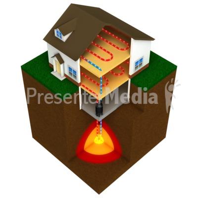 geothermal house.