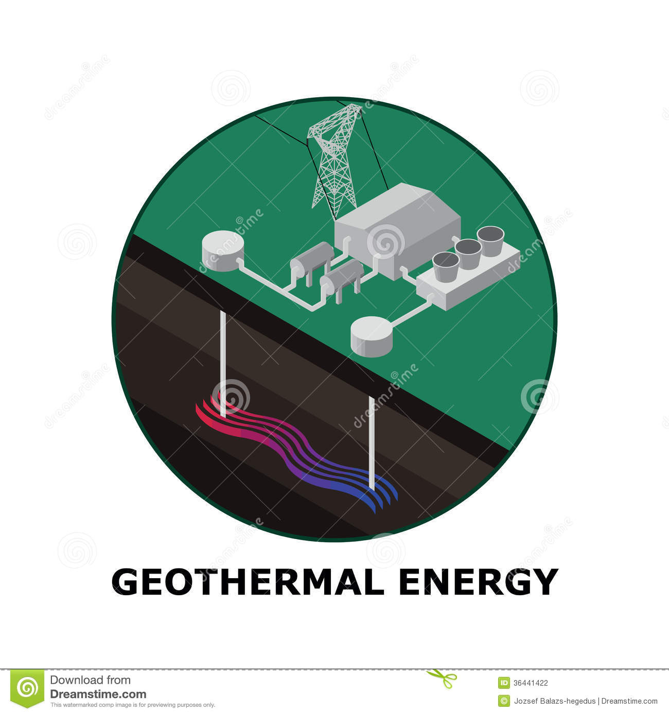 Geothermal Stock Illustrations.