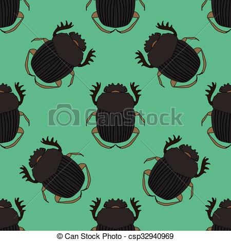 Clip Art Vector of Seamless pattern with dor.