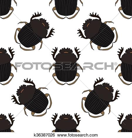 Clip Art of Seamless pattern with dor.