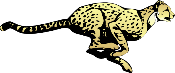 Cheetah Black And White Clipart.