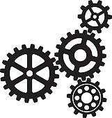 Gears Clip Art.