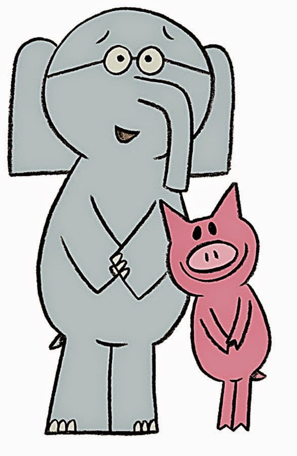 Elephant and piggie trunk clipart.