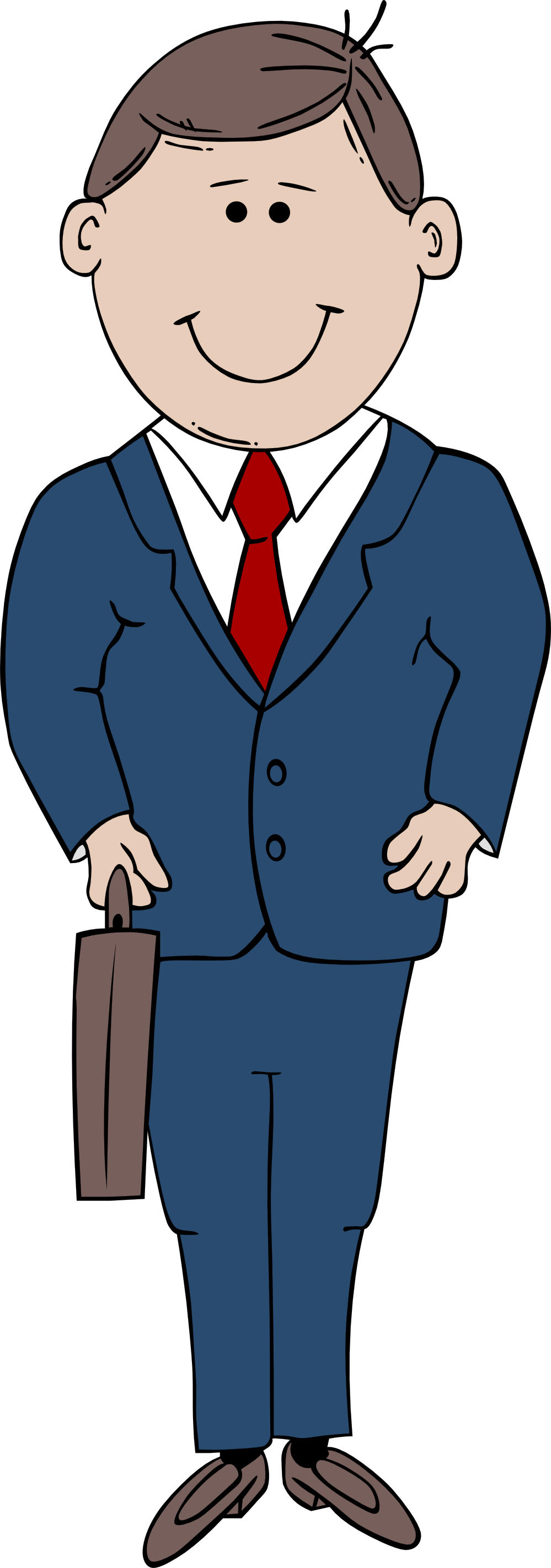Man in a suit clipart.
