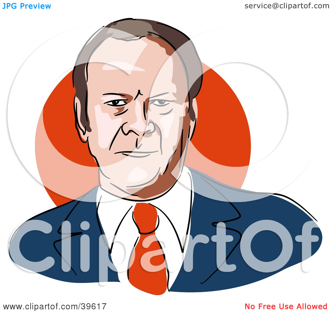 Clipart Illustration of American President Gerald Ford by Prawny.