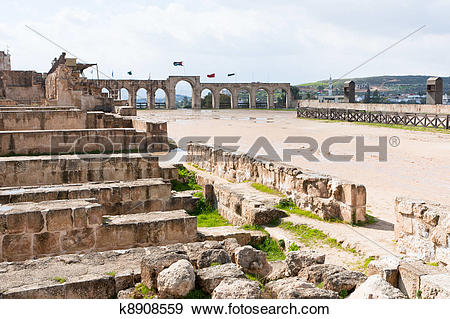 Stock Photograph of circus hippodrome in Greco.