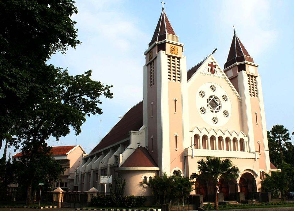 Free photo: Gereja Ijen, Katholik, Malang.