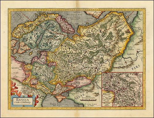 Mercator's map of Russia, 1620.The man we know as Gerard Mercator.