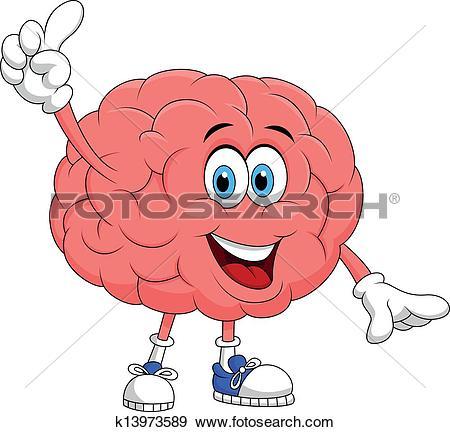 Clip Art of Brain Smiling k3706408.