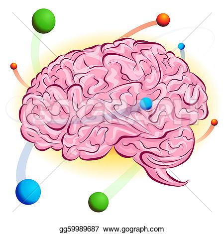 Smart Brain Clip Art.