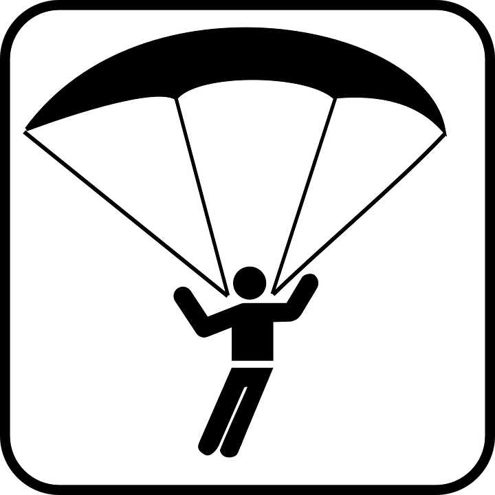 Free vector graphic: Paraglider, Sign, Parachute.