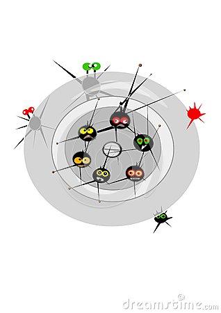 Plug Hole Monsters Stock Illustration.