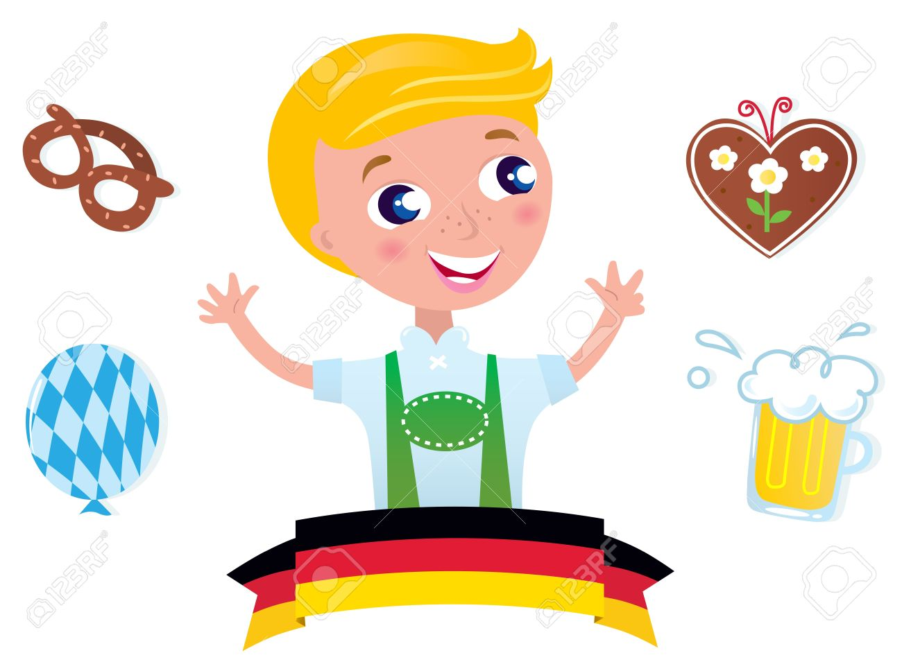 German boy clipart.