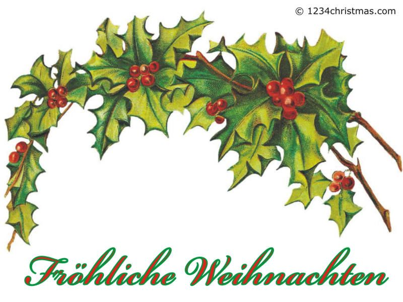 Merry Christmas German Greetings.