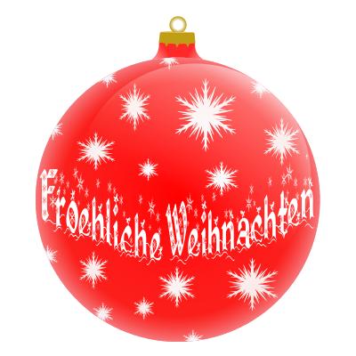 Froehliche Weihnachten German.