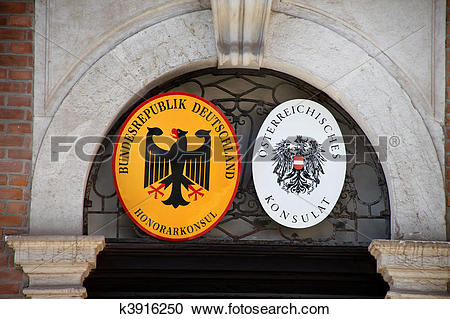 Stock Photography of German and Austrian Consulate k3916250.