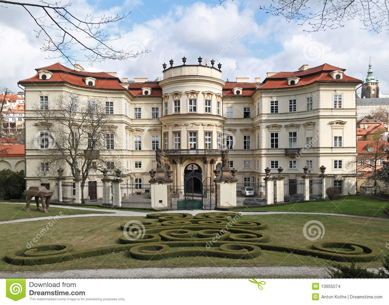 German Embassy Prague Stock Images.