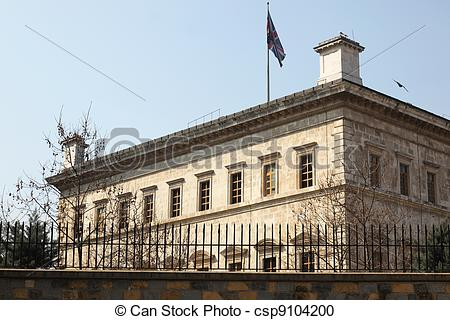 Stock Photography of British Consulate General Istanbul.