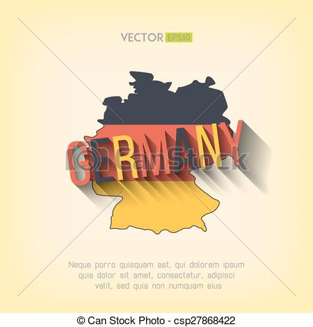 Vector Illustration of Vector germany map in flat design. German.