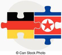 Clip Art of Flag of German Democratic Republic. Close Up.