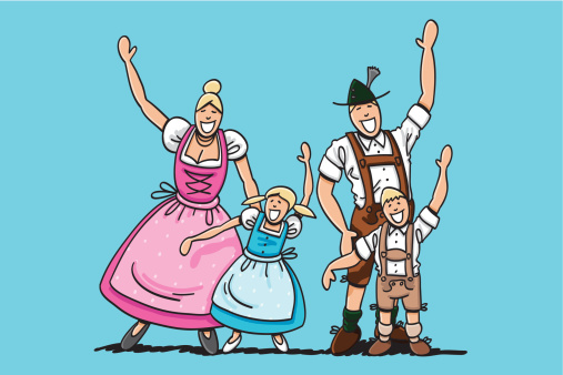 German Family Clipart.