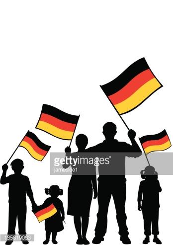 Patriotic German Family Vector Art.