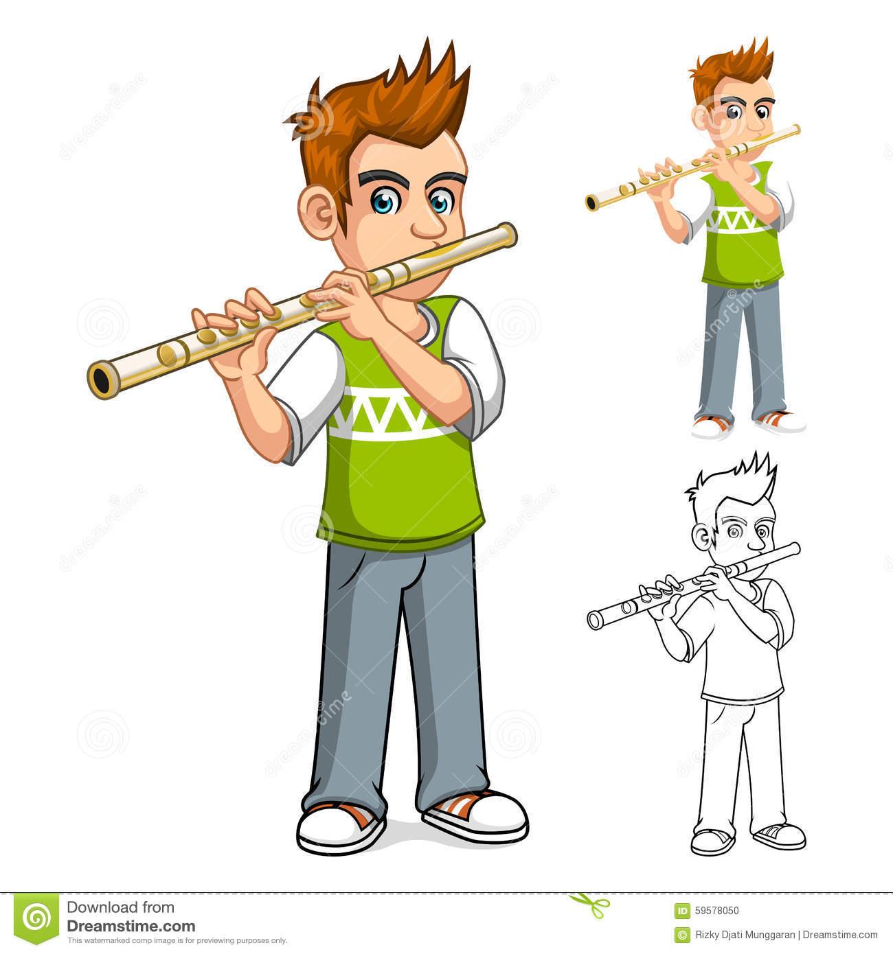 German flute clipart #2