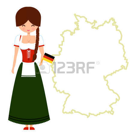 1,649 German Girl Stock Vector Illustration And Royalty Free.