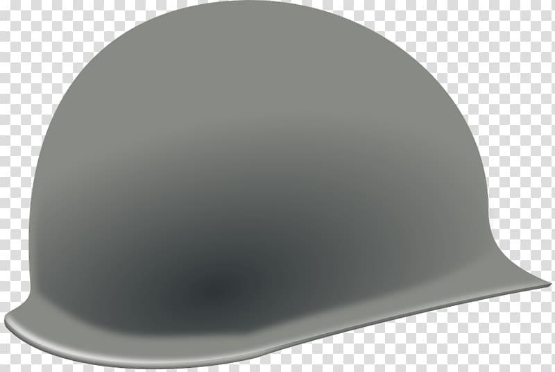 Gray helmet , Us Helmet transparent background PNG clipart.