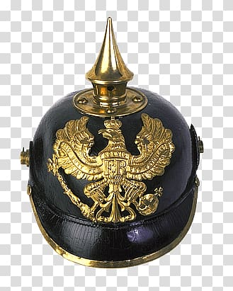 Black and gold warrior helmet, German Helmet transparent.