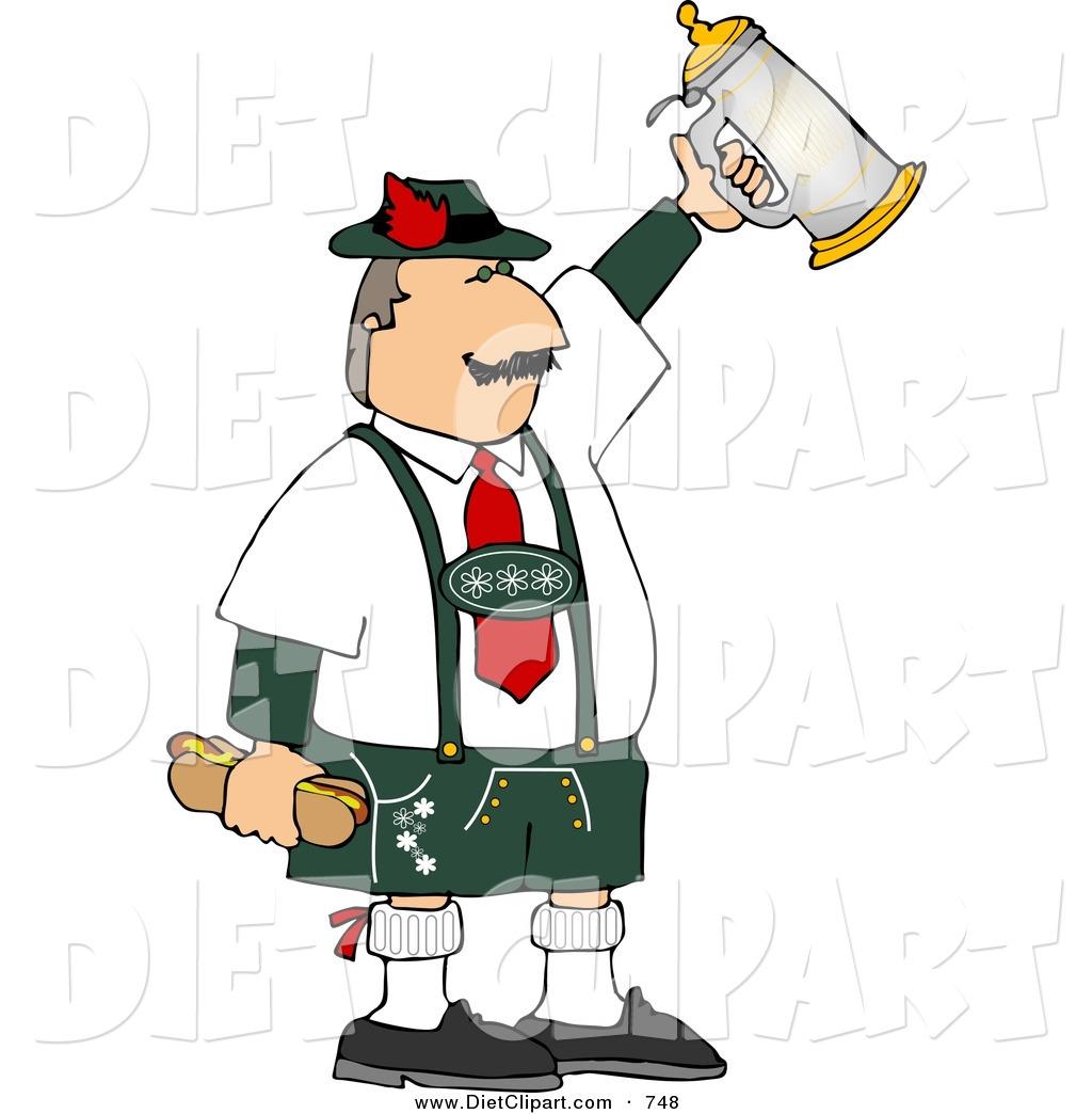 Diet Clip Art of a German Man.