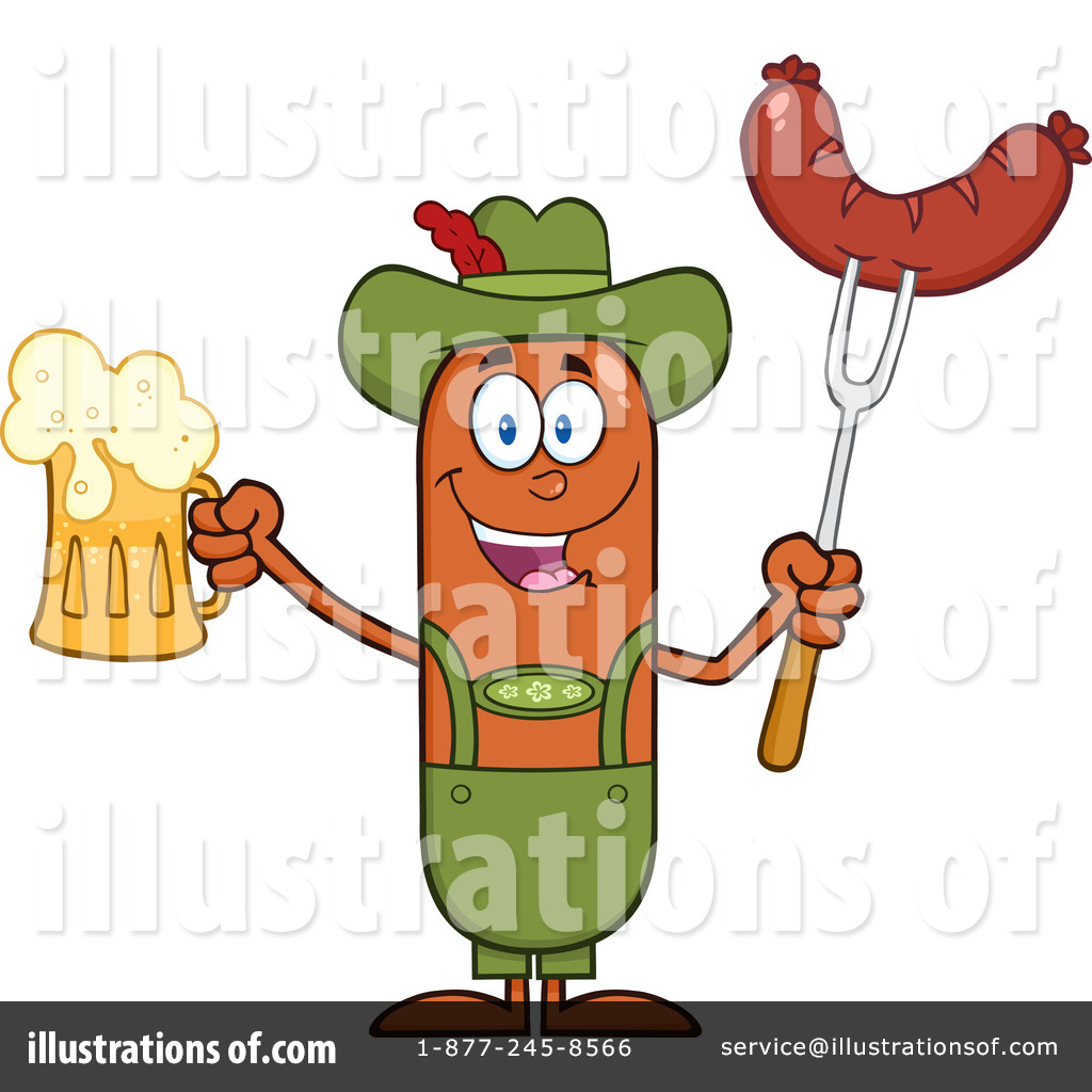 German Sausage Clipart #1294099.