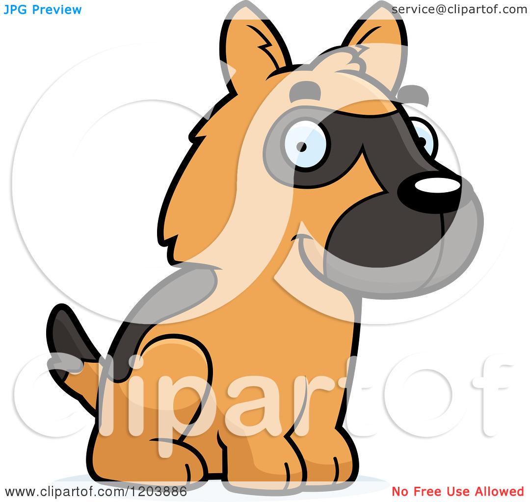 Cute Puppie German Shpard Clipart.