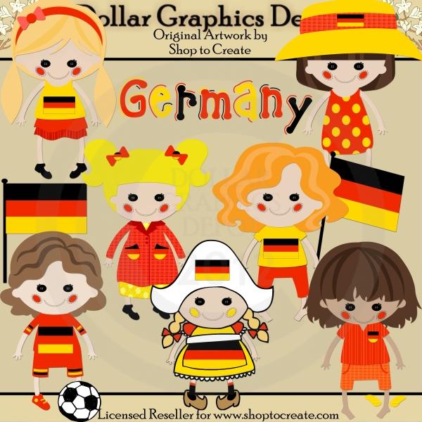 German Kids Clipart.