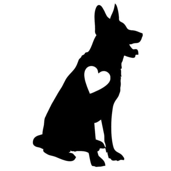 German shepherd clipart black and white » Clipart Station.